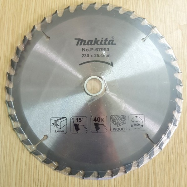 Lưỡi cắt gỗ Makita đường kính 230 - 40 răng
