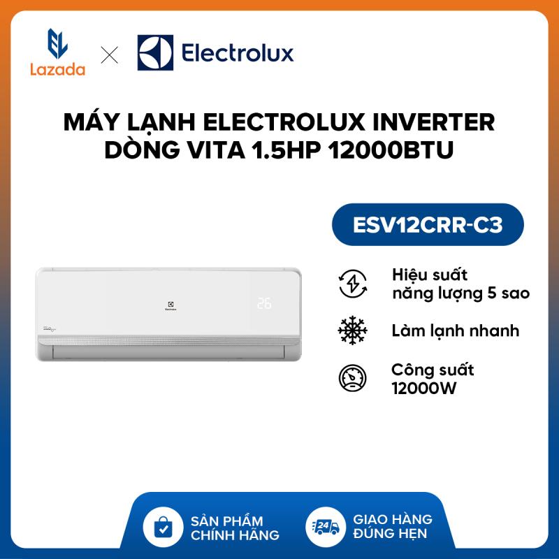 Bảng giá Máy lạnh Electrolux Inverter dòng Vita 1.5HP 12000BTU ESV12CRR-C3 (Trắng) , Chức năng thanh lọc giúp hấp thụ hơi nước và các loại mùi khó chịu khác, đồng thời loại bỏ bụi và nấm mốc - Hàng phân phối chính hãng, tiết kiệm điện