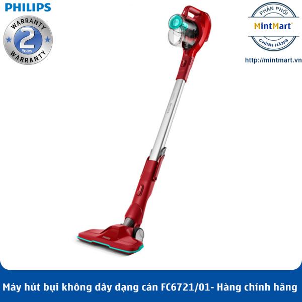 Máy Hút Bụi Không Dây Có Cán Philips FC6721 - Hàng Chính Hãng - Bảo Hành 2 Năm Toàn Quốc