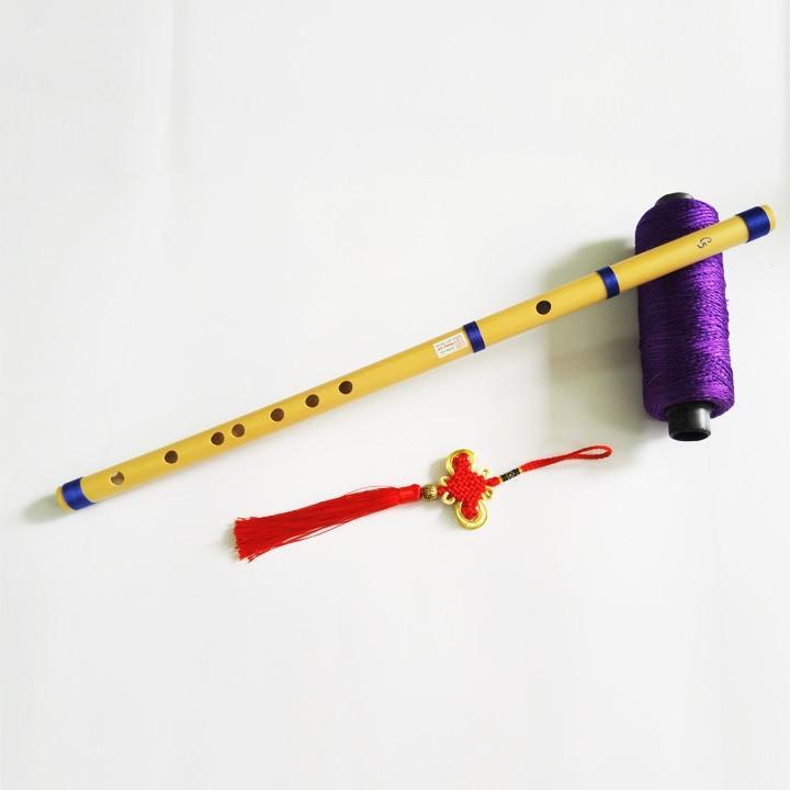 Sáo Trúc C5 Dài từ 42 đến 55cm, Chuẩn Âm, Chuẩn Beat Trên Từng Phím Bấm (tặng dây treo đủ màu, giao ngẫu nhiên)