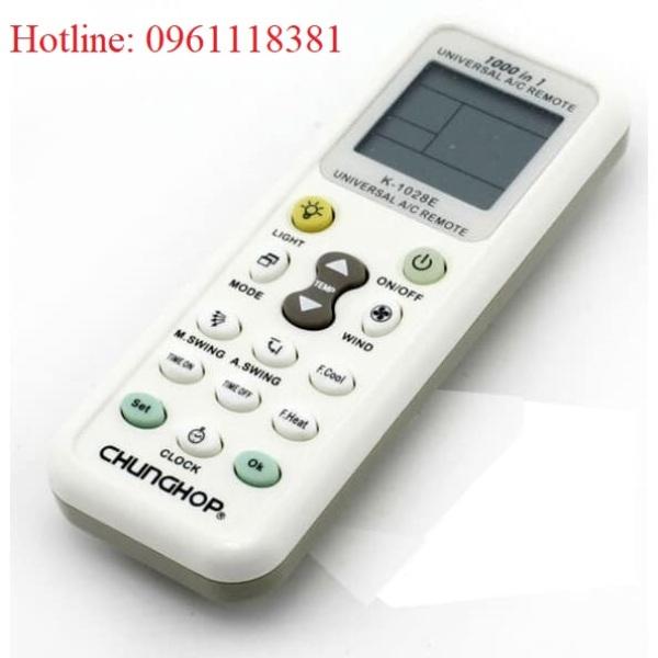 Điều khiển điều hòa đa năng (CHUNGHOP: K-1028E), 1000 in 1