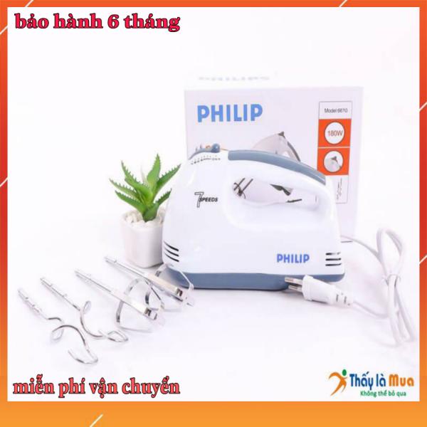MÁY ĐÁNH TRỨNG CẦM TAY- PHILIPS 6610 MÀU TRĂNG BẢO HÀNH 6 shop kim tươi