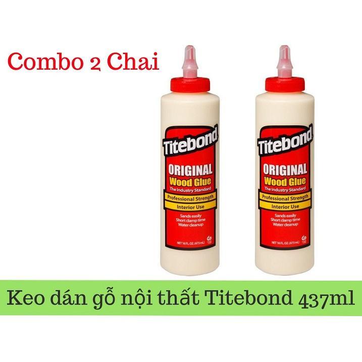 Combo 2 chai Keo Dán Gỗ Chuyên Dụng Nội Thất Đa Năng Chịu Nước Tốt - Titebond Original Wood Glue 473ml