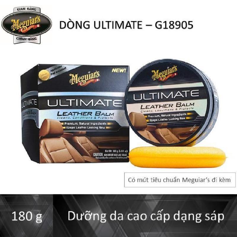 Meguiars Dưỡng da nội thất ô tô dòng Ultimate - Leather Balm - G18905, 180 g