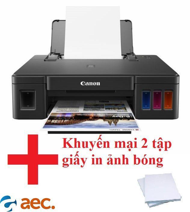 Giá Máy in phun màu Canon G1010 ( đã bao gồm 4 chai mực Hàn Quốc ) tặng 2 tập giấy in ảnh bóng chuyên dụng cho máy in màu