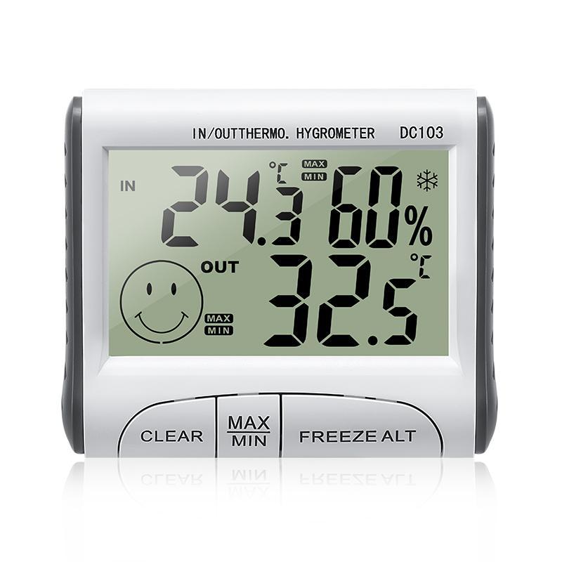 Nhiệt ẩm kế điện tử DC103 đo phòng, nhiệt ẩm kế Gia đình, Thiết bị theo dõi nhiệt độ độ ẩm gia đình bán chạy