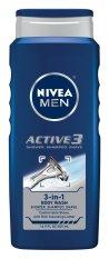 Bán Gel Tắm Gội Cạo Rau 3 Trong 1 Nivea Men Active3 3 In 1 Body Wash 500Ml Nivea Người Bán Sỉ