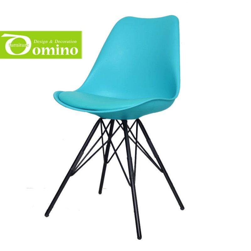 Ghế nệm chân sắt Domino (Xanh) giá rẻ