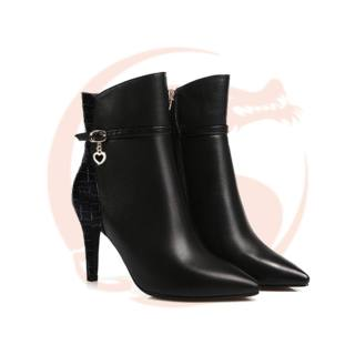 Giày boot bốt cao gót nữ đẹp cổ cao hàng hiệu Rosata-cổ cao RO26