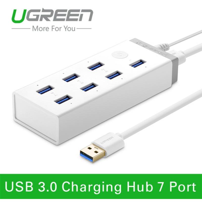 Hub 7 cổng USB 3.0 kèm sạc điện thoại, máy tính bảng Ugreen UG - 20296
