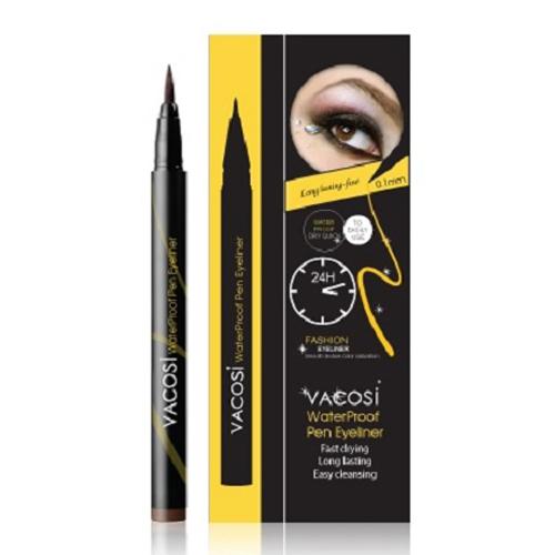 Kẻ Mắt Nước Không Trôi 24H Vacosi Waterproof Pen Eyeliner