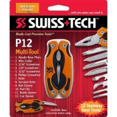 Giá Bán Kim Đa Năng Swisstech P12 Pocket Multi Tool 12 In 1 Nguyên Swiss Tech
