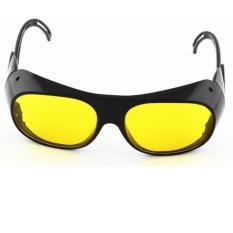 Hình ảnh Kính bảo hộ lao động kiêm hàn xì bảo vệ mắt N110 (Đen tròng vàng)