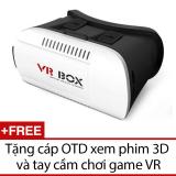 Ôn Tập Kinh Thực Tế Ảo Vr Box Trắng Đen Tặng 1 Cap Otd Xem Phim 3D Va 1 Tay Cầm Chơi Game Vr