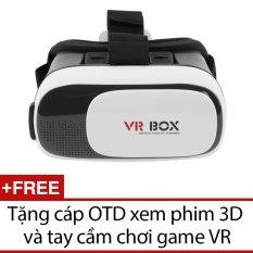 Hình ảnh Kính xem phim 3D VR Box ver 2.0 (Đen) + Tặng 1 cáp OTD xem phim 3D và 1 tay cầm chơi game VR