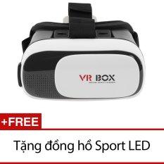 Hình ảnh Kính xem phim 3D VR Box ver 2.0 (Đen) + Tặng đồng hồ Sport LED