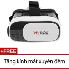 Hình ảnh Kính xem phim 3D VR Box ver 2.0 (Đen) + Tặng kính mát xuyên đêm