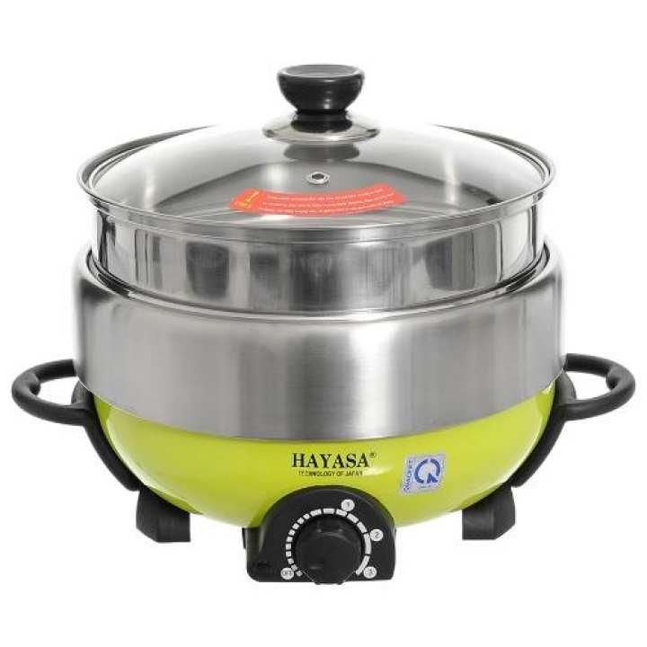 Lẩu điện nướng hấp đa năng cao cấp 5 lít Hayasa Ha-68 - Hãng phân phối chính thức