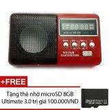 Mã Khuyến Mại Loa Nghe Nhạc Đa Năng Wster Ws 239 Đỏ Tặng 1 Thẻ Nhớ Microsd 8Gb Ultimate 3 Wster Mới Nhất