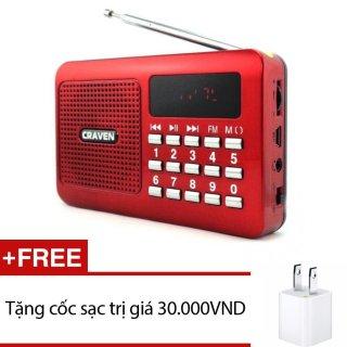 [HCM]Loa nghe nhạc USB thẻ nhớ Craven CR-16 (Đỏ) + Tặng 1 cốc sạc - Nhất Tín Computer thumbnail