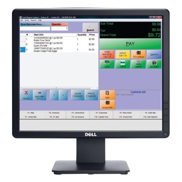 Màn hình máy tính Dell 17 inch - Model E1715S (Đen)