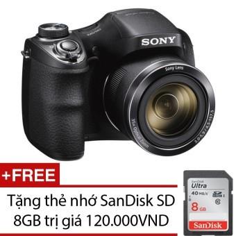 Máy ảnh KTS Sony Cyber-shot DSC-H300 20.1MP và Zoom quang học 35x (Đen) + Tặng thẻ nhớ SanDisk SD 8GB