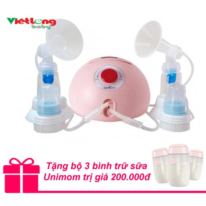Máy hút sữa đôi Spectra Dew 350 + Tặng bộ 3 bình trữ sữa Unimom trị giá 200.000đ