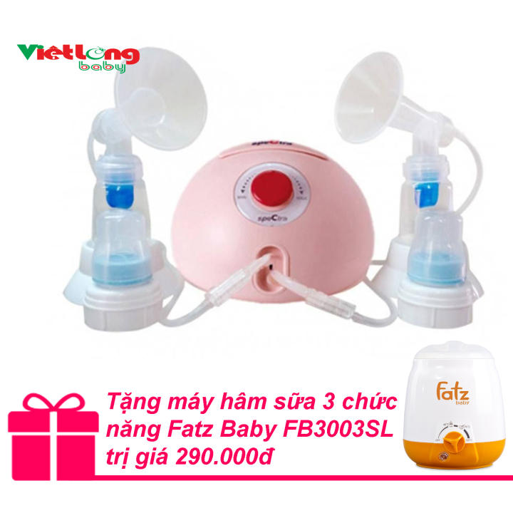 Máy hút sữa đôi Spectra Dew 350 + Tặng máy hâm sữa 3 chức năng Fatz Baby FB3003SL trị giá...