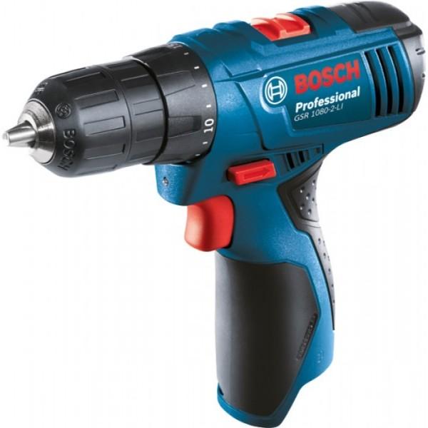 Máy khoan vặn vít dùng pin Bosch GSR1080-2-LI 10.8V (Xanh)