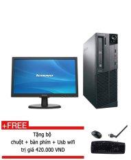 May Tinh Để Ban Lenovo Thinkcentre M71E Sff Core I3 2100 Ram 4Gb Hdd 250Gb Man Hinh 20Inch Đen Hang Nhập Khẩu Tặng Bộ Ban Phim Chuột Usb Wifi Nguyên