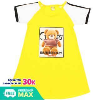Váy chữ A in hình dễ thương bé gái - Chất vải mềm thumbnail