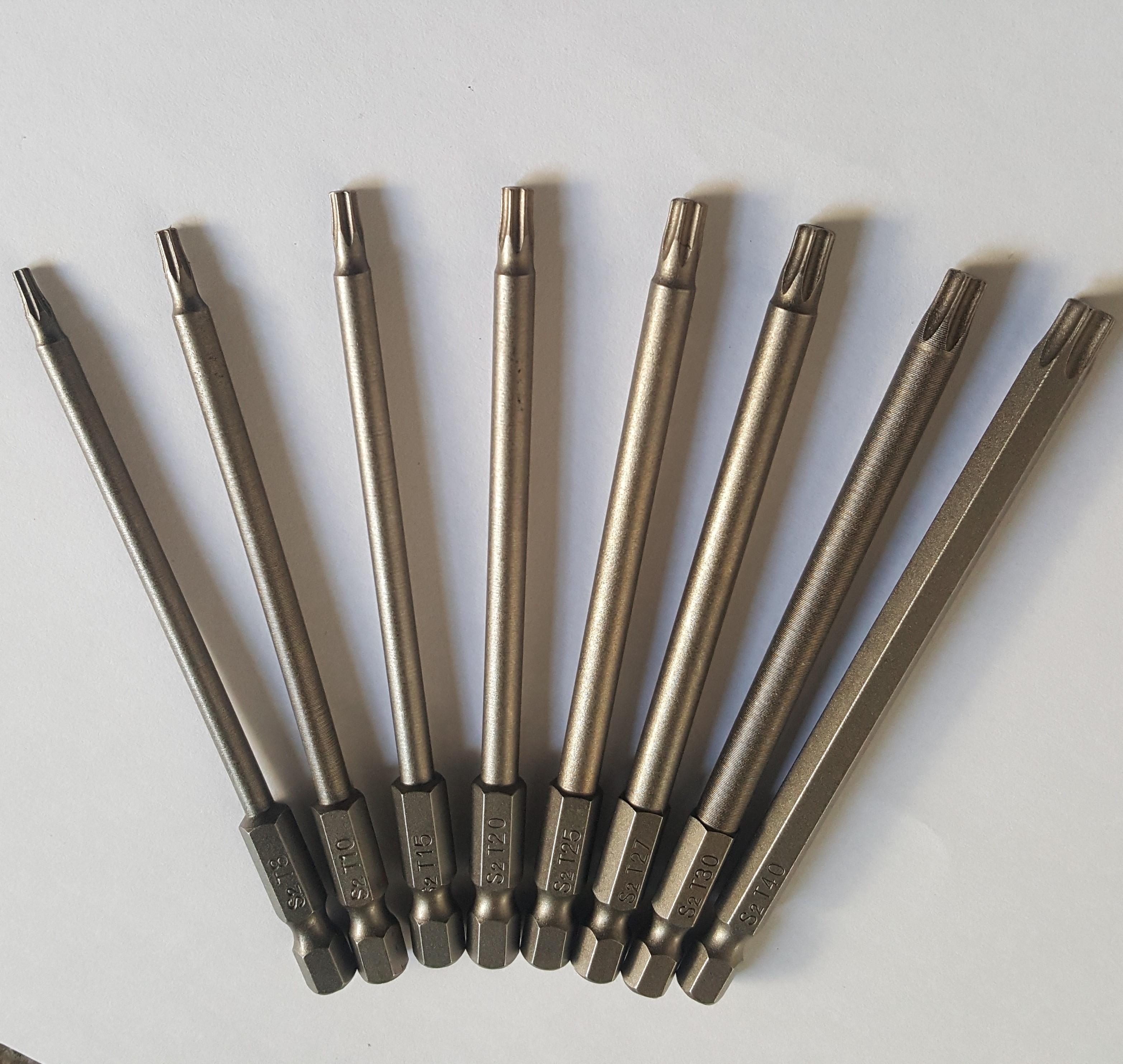 Bộ 8 đầu vít hình sao 100mm có nam châm cho máy bắn vít - máy khoan