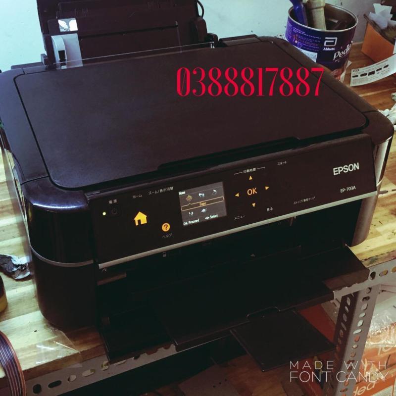Máy in Epson 703A  Sử dụng chung đầu phun Epson T60  scan  in đĩa  6 màu in ảnh thẻ