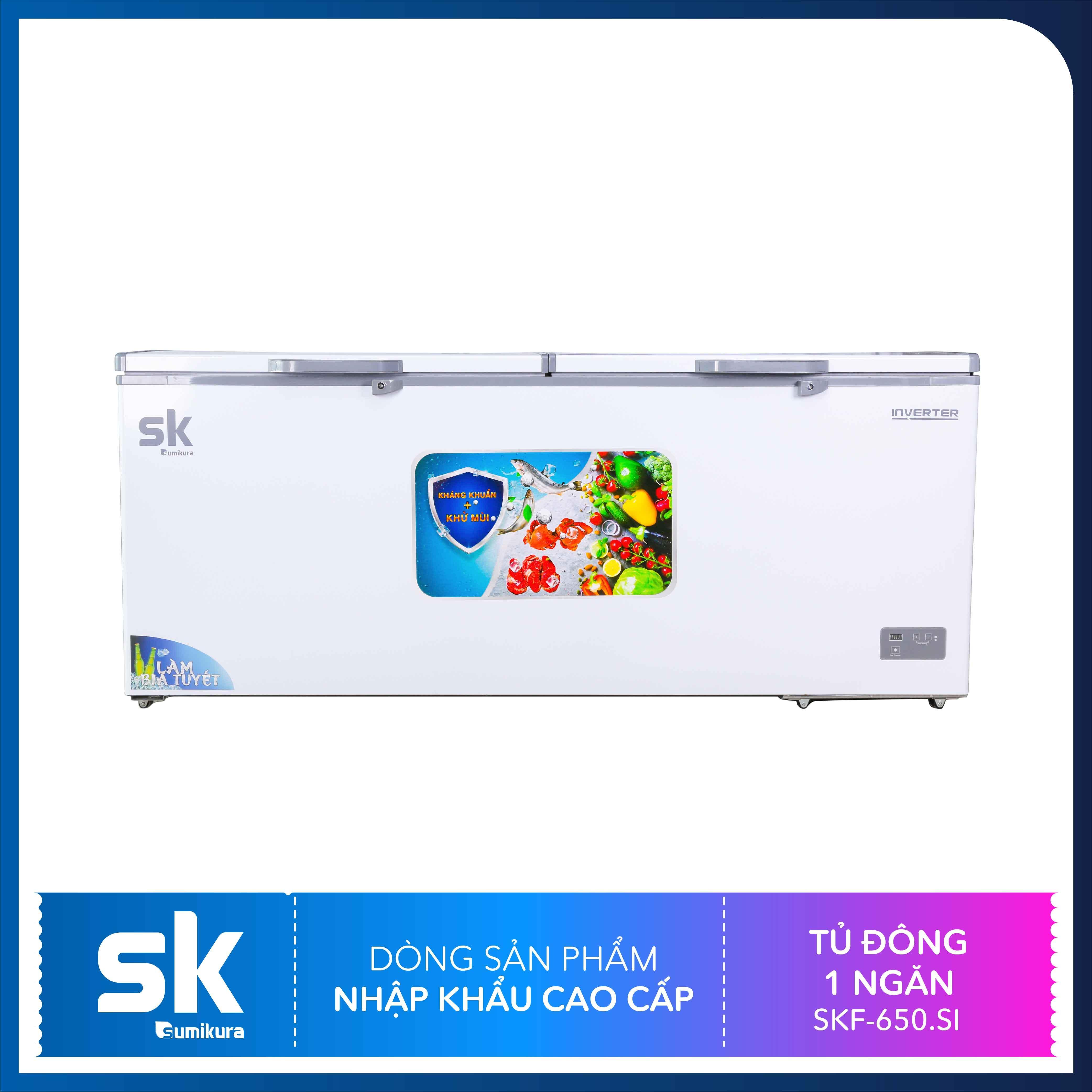 Bảng giá Tủ Đông 1 Ngăn Inverter 650 Lít SKF-650.SI Sumikura Điện máy Pico