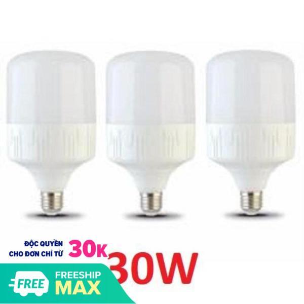 Sỉ-Bộ 3 bóng đèn led 30W tiết kiệm điện. Bảo hành: 12 Tháng Lỗi đổi mới Tiết kiệm điện hơn so với các loại bóng compact