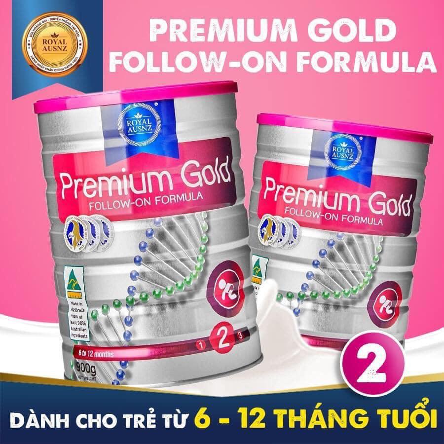 Sữa Hoàng Gia Úc Royal Ausnz Premium Gold 2 cho bé 6-12 tháng