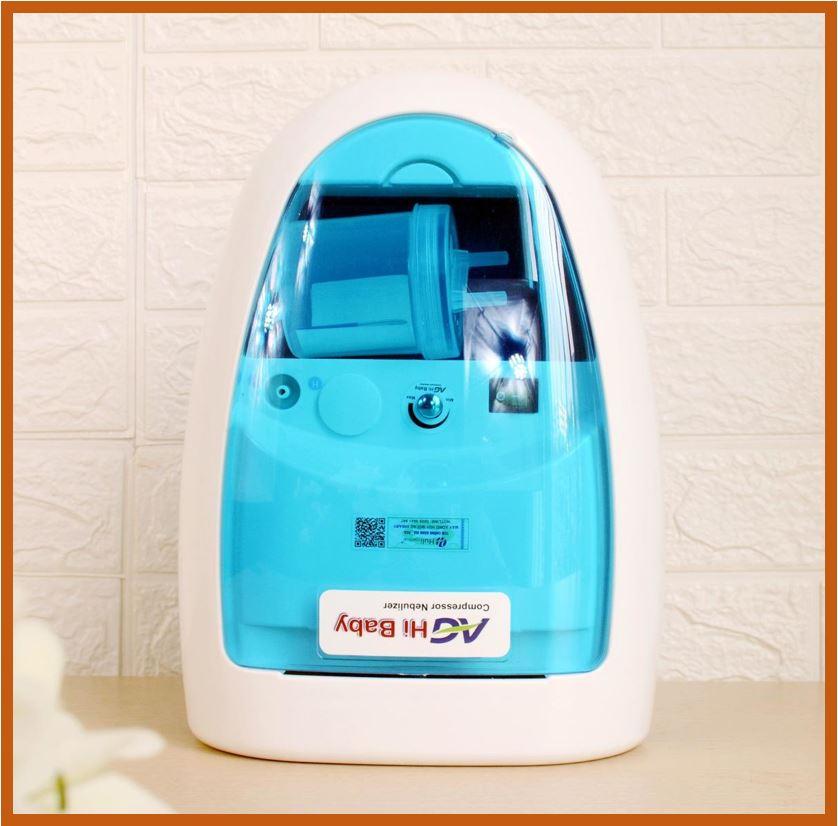 Máy xông hút mũi họng 2 in 1 AG HiBaby - xông và hút mũi họng cho bé, hút khỏe chạy êm, an toàn cho trẻ em - Việt nam sản xuất - AG601