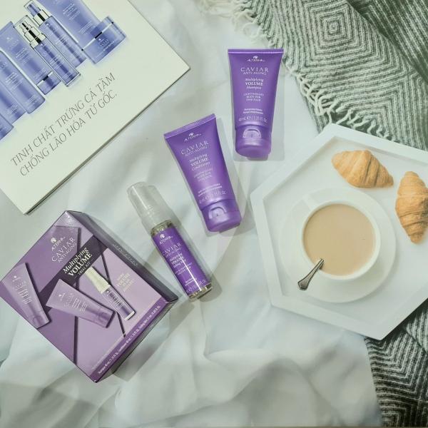 Set Trail Kit dầu gội dầu xả và xịt dưỡng làm phồng tóc ALTERNA Caviar Anti-Aging - Multiplying Volume - Tăng độ phồng tóc giá rẻ