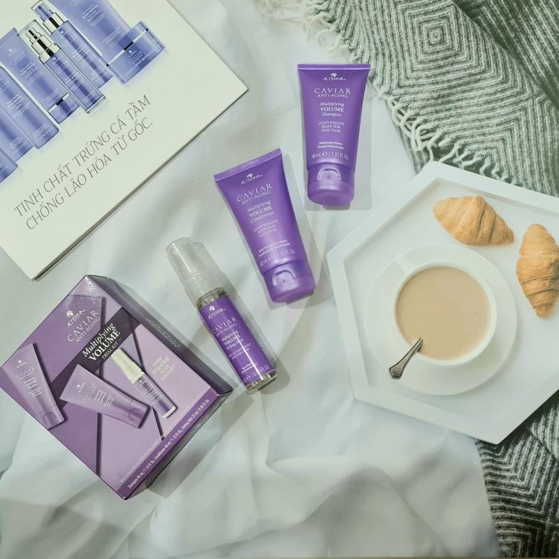Set Trail Kit dầu gội dầu xả và xịt dưỡng làm phồng tóc ALTERNA Caviar Anti-Aging - Multiplying Volume - Tăng độ phồng tóc