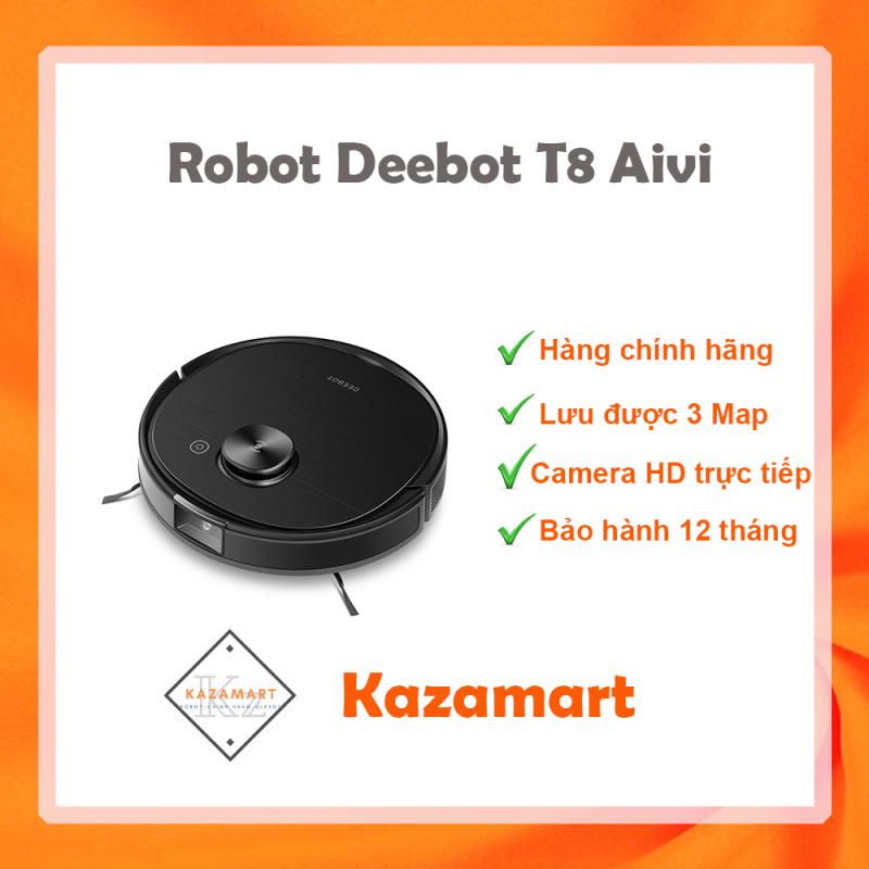 Robot Hút Bụi Lau Nhà Ecovacs Deebot OZMO T8 Aivi   ✔️ Hàng Chính Hãng ✔️ Giá Tốt ✔️ Bảo Hành 12 Tháng ✔️ Mới 100%