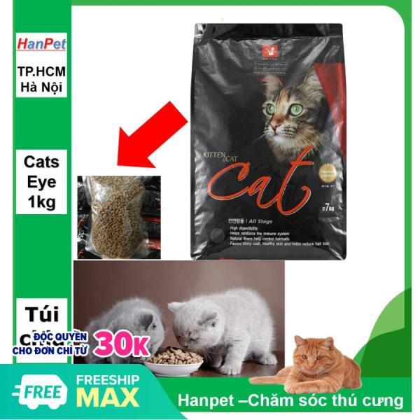 HN-(Gói chia 1kg) Cats Eye - Thức ăn mèo Hàn Quốc GIÚP SÁNG MẮT - Thức ăn viên cao cấp cho mèo mọi lứa tuổi - CATSEYE / CAT EYE / CATSEYE