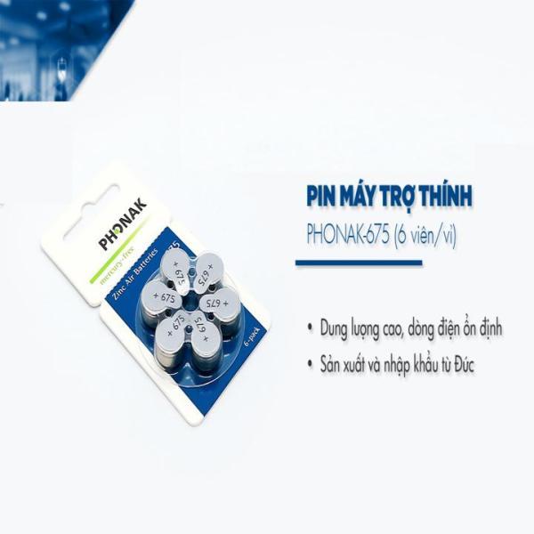 Bảng giá Pin Phonak 675 Cho Máy Trợ Thính vĩ 6 viên Phong Vũ