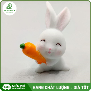 Thỏ Phụ kiện trang trí chậu cây Mi Garden, kiểu dáng và màu sắc đa dạng giúp làm sinh động chậu cây thân yêu của bạn thumbnail