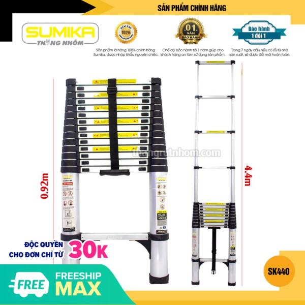 Thang rút nhôm gọn Sumika SK 440 (4,4m)