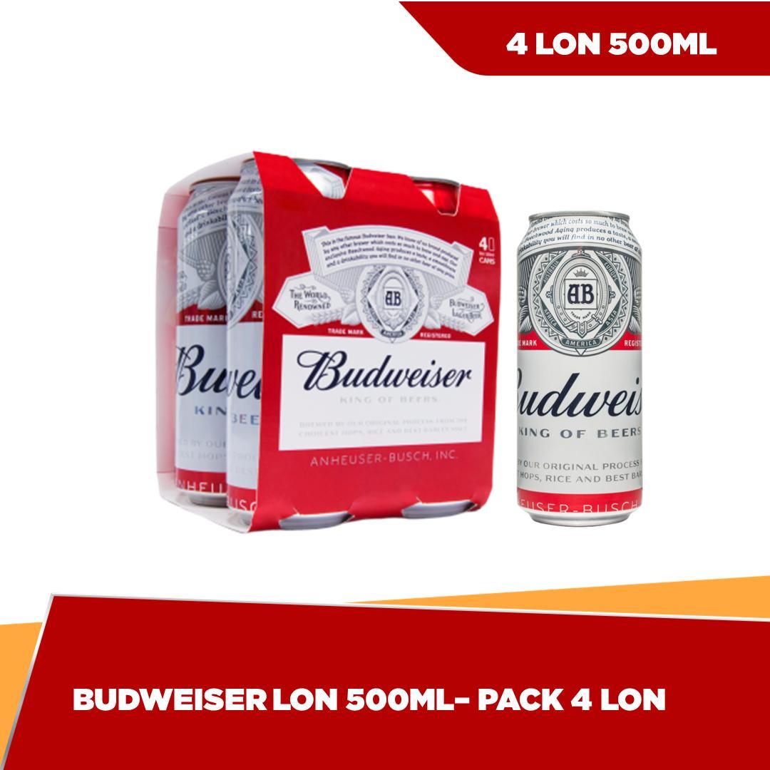 Deal Khuyến Mãi Budweiser Lon 500ml - Pack 4