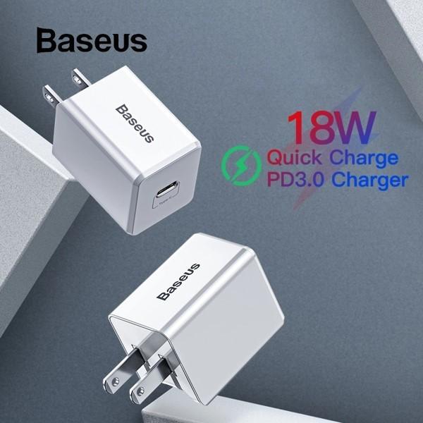 Giá Bộ sạc nhanh đa năng Baseus Traveler Series PD/ QC3.0 18W dùng cho iPhone (Combo Củ sạc PD + Cáp C to Ligntning )