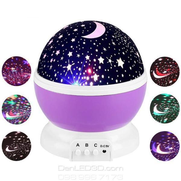 Đèn Chiếu Bầu Trời Sao Sky LED Night Light Xoay 360 độ Star Master