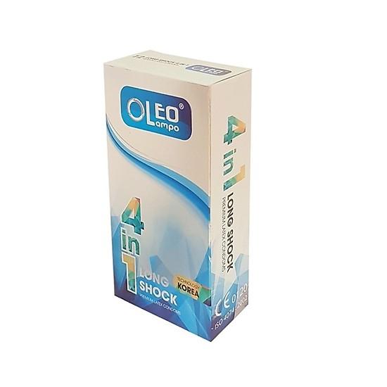 Bao cao su kéo dài thời gian  Oleo Lampo 4in1 (hộp 12 chiếc) cao cấp
