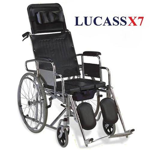 Xe Lăn có bô, ghế ngả Lucass X7 cao cấp