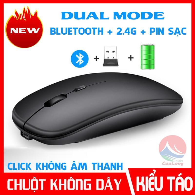 Chuột Không Dây Bluetooth Pin Sạc, Kiểu dáng Apple Slim,...